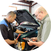 Chris and Gary Repairing Auto